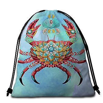 Diamond Crab Beach Towel