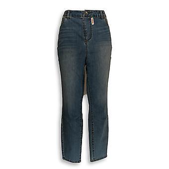 Kelly door Clinton Kelly vrouwen ' s plus Jeans 5-Pocket blauw A297974