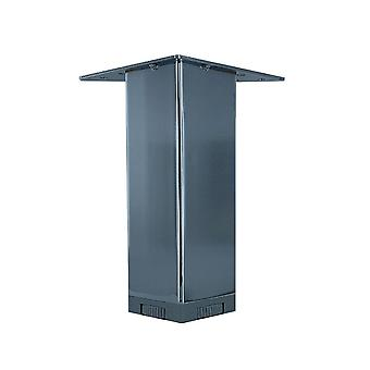 Chromen vierkanten meubelpoot hoogte 15 cm