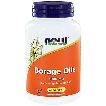Borage Olie 1000 mg (60 softgels) - NOW Foods