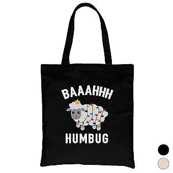Baaahhh Humbug Funny Canvas Bag Great Holiday Gifts