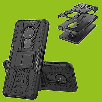 For Nokia 6,2/7,2 hybrid veske 2Piece utendørs svart deksel deksel beskyttelse