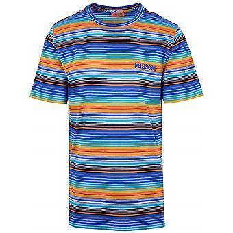 MISSONI MISSONI Logo Multi-Coloured Striped T-Shirt