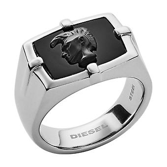 Diesel Ring Jewelry MOHICAN DX1175040 - Silver Steel Ring MAN