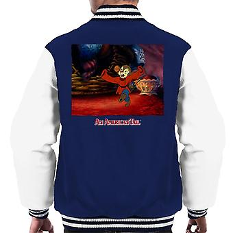 An American Tail Fievel Dancing Men's Varsity Jacket