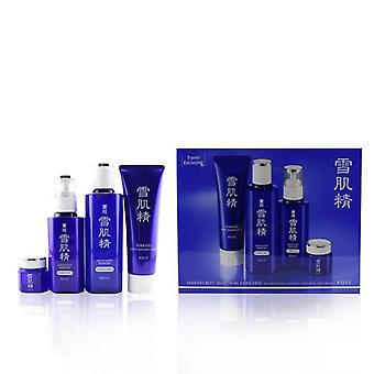 Sekkisei Best Selection Enriched Set: Washing Foam 130g+enriched Lotion 200ml+enriched Emulsion 140ml+eye Cream 20g - 4p