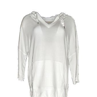 Belle by Kim Gravel Women's Top Lovabelle Lounge Hooded White A351607
