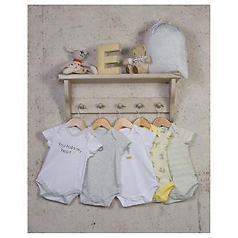 Os trajes bodysuits do mouse bebê unissex Essencial - 5 Pacote
