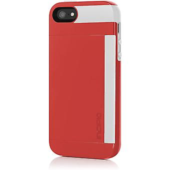 Incipio Stowaway Case for Apple iPhone 5/5s - Red/White