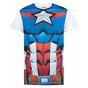 Marvel kapitán Amerika kostým T-shirt