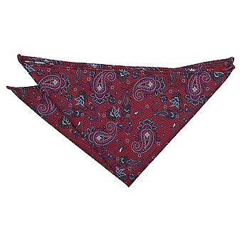 Burgundy Iris Paisley Pocket Square