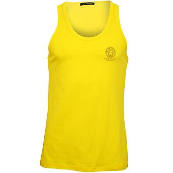 Versace Iconic Tank Top Vest, Yellow