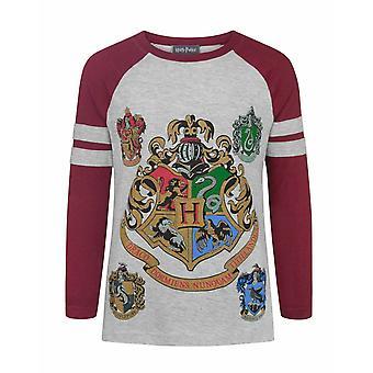 Harry Potter Zweinstein Girl's Raglan T-shirt met lange mouwen