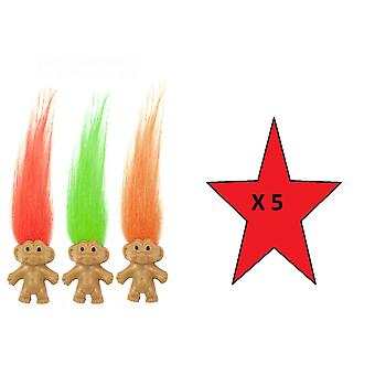Fun Toys - Troll 3.5cm - Colours May Vary - 5 Supplied