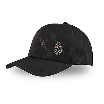 Luke | Drift Zm501213 Vintage Stripe Logo Velcro Strap Baseball Cap - Black