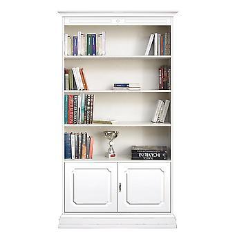 Bücherschrank 2 Türen 3 verstellbare Regale