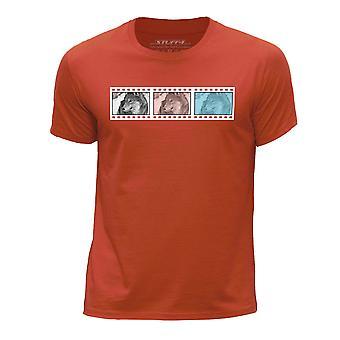 STUFF4 Boy's ronde hals T-T-shirt/Film Strip / dieren / Wolf/oranje