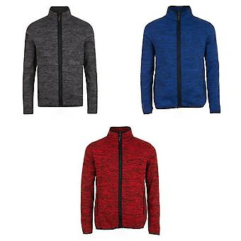 SOLS Mens Turbo Pro Knitted Fleece Jacket