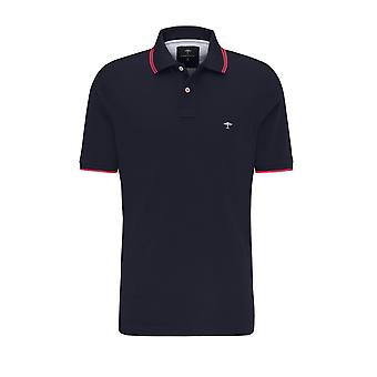 Fynch-Hatton Fynch Hatton Contrast Polo Shirt Navy/flamingo