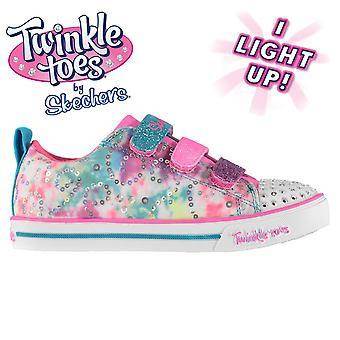 Skechers Kids TT Rainbow Canvas Low Shoes