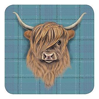 Melamine Coaster Highland Cow by The Original Metal Sign Co