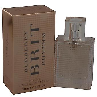 Burberry Brit Rhythm blommig Eau De Toilette Spray av Burberry 1 oz Eau De Toilette Spray