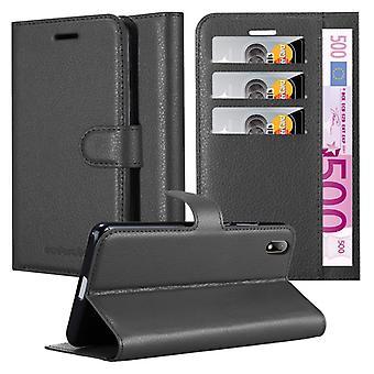 Cadorabo Hülle für Huawei Y5 2019 hülle case cover - Handyhülle mit Magnetverschluss, Standfunktion und Kartenfach – Case Cover Schutzhülle Etui Tasche Book Klapp Style