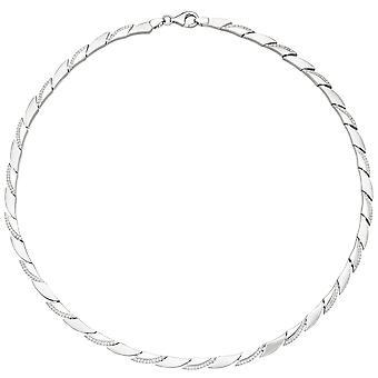 Naisten kaulakoru 925 hopea 210 kuutio zirkonia 45 cm ketju hopea ketju hopeaketju