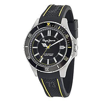 Herren's Uhr Pepe Jeans (43 mm)/Gelb