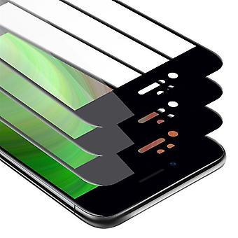 Cadorabo 3x Helskärmsläge Tank Folie för Apple iPhone 7 / iPhone 7S / iPhone 8 - 3 Pack Tempered Display Skyddande glas i 9H Hårdhet med 3D Touch
