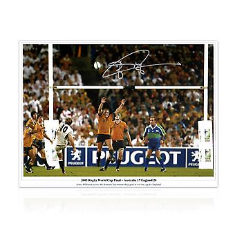 Jonny Wilkinson Signed 2003 Rugby World Cup Photo: Winning Drop-Goal
