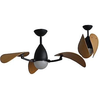 DC ceiling fan Vampire Black with LED and remote
