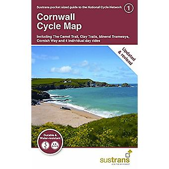 Cornwall Cycle Map 1 - Including The Camel Trail - Clay Trails - Miner