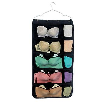 Oxford cloth double-sided visual mesh pocket storage hanging bag 31 grid