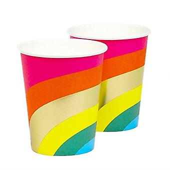 Rainbow Paper Party Cups x 12 - Partyware