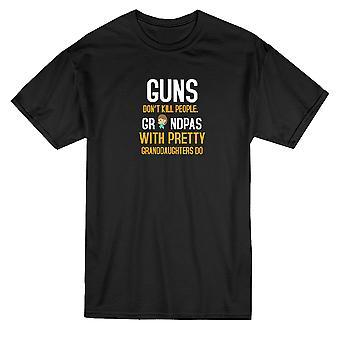 Armas no matan personas abuelos gráfico camiseta de los hombres