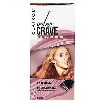 Clairol Color Crave Semi Permanent Hair Colour 15+ Washes 60ml Rose Gold