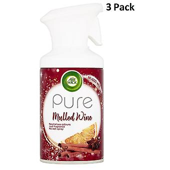 3 X 250Ml Air Wick Pure Air Freshner Spray - Vin chaud