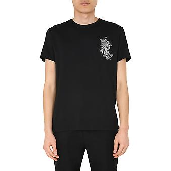 Alexander Mcqueen 599549qoz620901 Men's Black Cotton T-shirt
