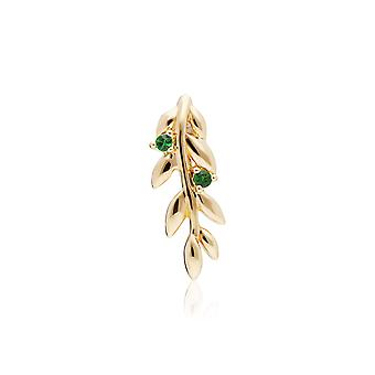 O Leaf Tsavorite Pendant Necklace in Gold Plated Sterling Silver 270P029501925