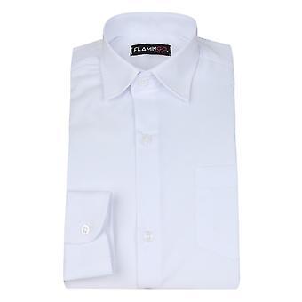 الأكمام الطويلة الكلاسيكية باجيبويس أبيض قميص