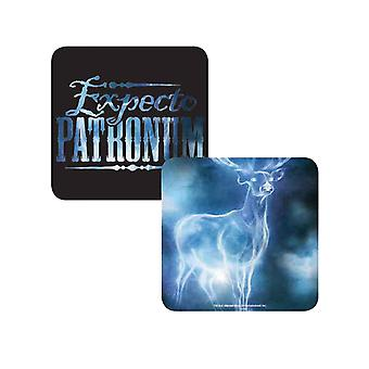 Harry Potter Coaster Lenticular Expecto Patronum Harrys stag Official 10x10cm