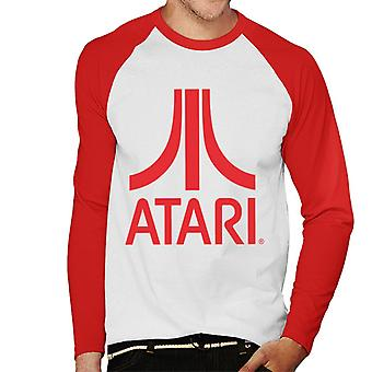 Atari Classic Red Logo Men's Baseball Long Sleeved T-Shirt