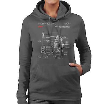 NASA Apollo CSM Escape System Blueprint Women's Hooded Sweatshirt