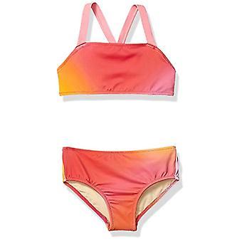Essentials Girl's 2-Piece Bikini Set, Ombre Pink, XXL