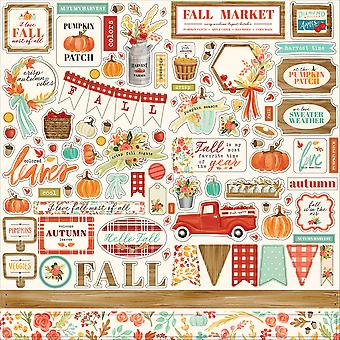 Carta Bella Fall Market 12x12 Inch Element Sticker