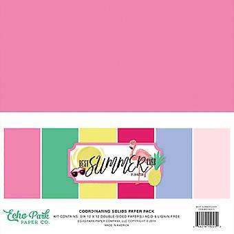 Echo Park Best Summer Ever 12x12 Calowy pakiet papieru do koordynowania ciał stałych