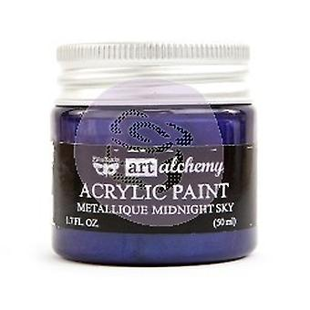 Finnabair Art Alchemy Acrylic Paint Metallique Midnight Sky