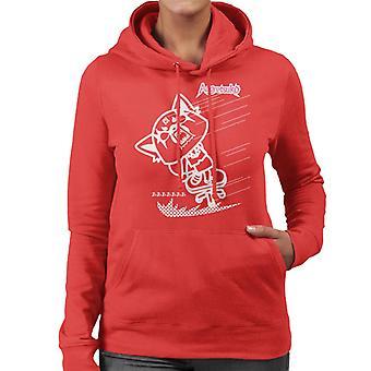 Aggretsuko Full Blown Rage Women's Hooded Sweatshirt