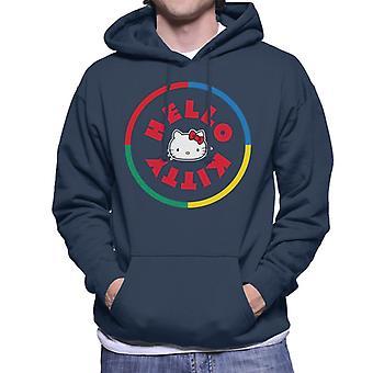 Hello Kitty Monivärinen Circle Miehet&s Hupullinen Collegepaita
